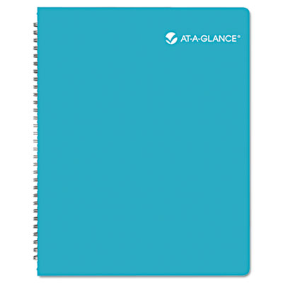 trellis weekly monthly planner 8 1 2 x 11 teal 2015 2016