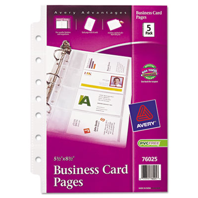 Business Card Binder Pages 2 x 3 1 2